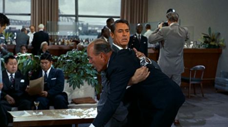 """north by northwest film analysis Feb 3, 2016 in north by northwest (1959) similar themes emerge, yet the master of suspense seemed willing to reveal much more than merely psychoanalytical and freudian elements, notably being the first film to mention the """"cia"""" hitchcock was not merely a master of suspense, but the father of the espionage film."""