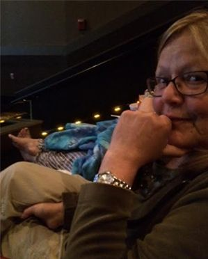 My mother silently judges a bad moviegoer.